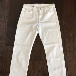 NWT 7 for All Mankind Kimmie Crop White Jeans 27